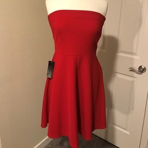 Limited Red Strapless Dress
